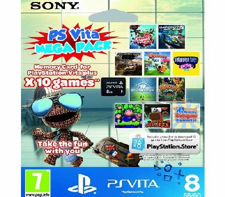 PlayStation Vita 10 game Mega Pack on 8GB Memory