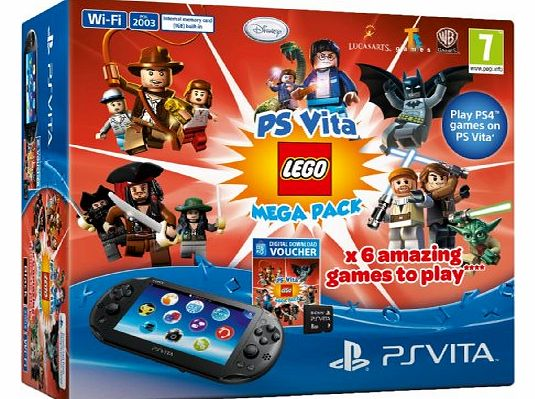 PlayStation Vita Console and Lego Mega Pack Bundle with 8GB Memory Card