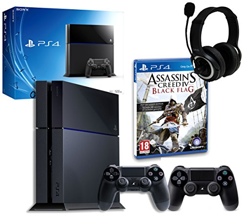 PS4 Console with Assassins Creed IV, GP3 Headset & DualShock 4 Controller (PS4)