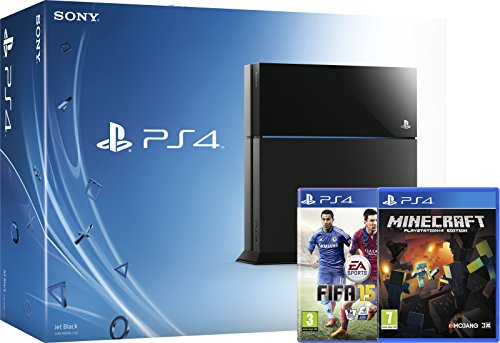 PS4 Console with FIFA 15 and Minecraft (PS4)