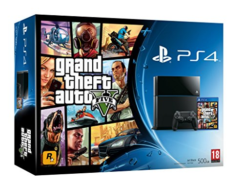 PS4 Console with Grand Theft Auto V (PS4)