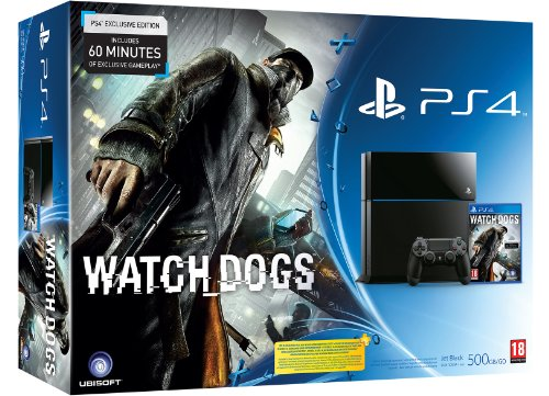 PS4 Console with Watch Dogs (PS4)