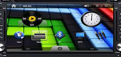 Sourcingbay OEM Natural 6.2 Inch Touch Screen Car DVD Player,universal Double in Radio,bluetooth,built-in GPS Navigaion, Analog TV, Ipod, Steering Wheel Control   Map card
