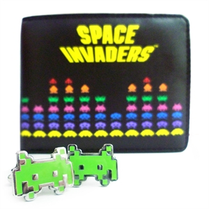 Invaders Wallet and Cufflinks Set