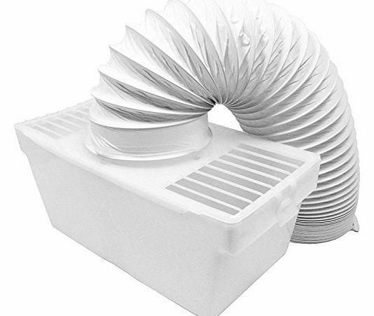 Condenser Vent Box & Hose Kit for Indesit Tumble Dryers (4`` / 100mm)