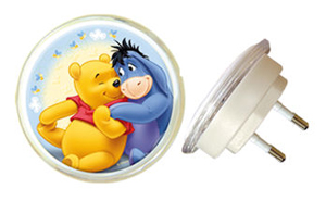 Spearmark Winnie The Pooh Moulded Plastic Children` Night Light With Printed Image