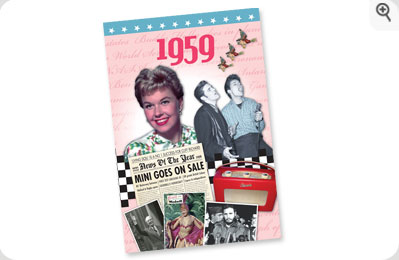 Year DVD Greeting Card - 1959 - Golden (50th) Anniversary