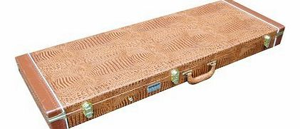 Rectangular Electric Hard Guitar Flight Case With Brown Crocodile Finish