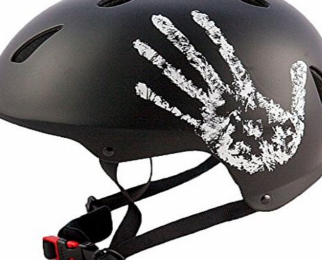 M BMX Skate ``The Hand`` Black Bicycle Cycle Helmet 57-59cm CE EN1078 TUV Approvals