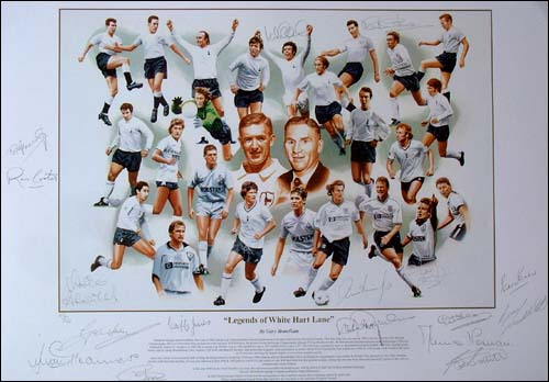 Legends of White Hart Lane and#8211; Print signed by 17