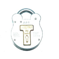 660 Old English Steel Case Padlock 64mm