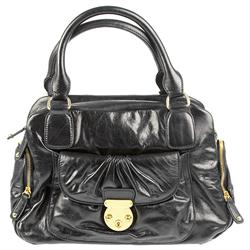 Female Belbag804 Leather Upper Textile Lining Bags in Black Antique