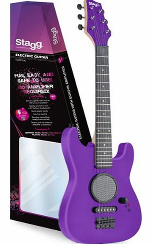 Stagg 1/2 Size Kids Electric Guitar With Amp - Purple