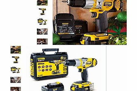 18v CORDLESS LITHIUM STANLEY FATMAX COMBINATION HAMMER/DRILL DRIVER COMPETE KIT x2 LITHIUM BATTERYS PLUS FAST CHARGER