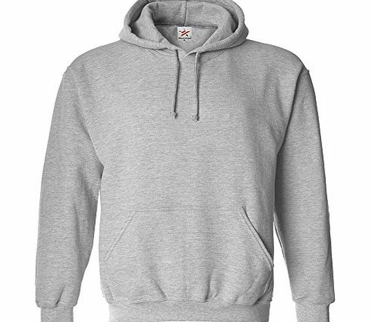 Star and Stripes MEDIUM HEATHER GREY classic plain pullover hoodie unsex and these are ideal for mens and ladies hooded sweatshirt