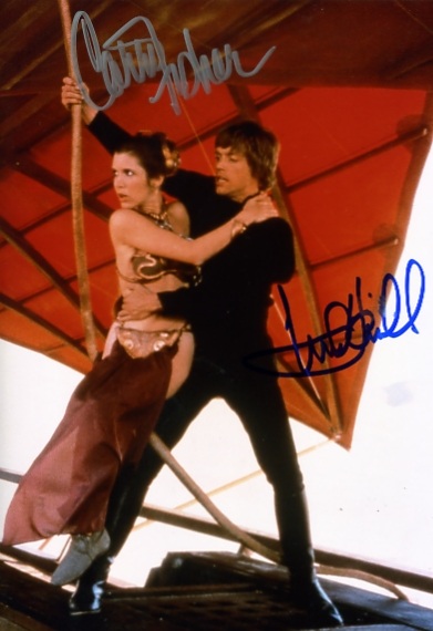 - FISHER & HAMILL SIGNED COLOUR 10 x 8