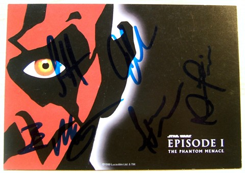 EPISODE I 6 x 4 INCH POSTCARD SIGNED
