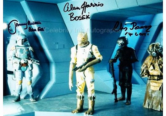 JEREMY BULLOCH, ALAN HARRIS and CHRIS PARSONS as Boba Fett, Bossk and 4-LOM - Star Wars: Episode V GENUINE AUTOGRAPHS