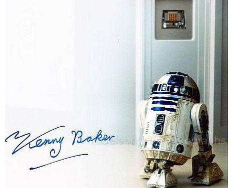 KENNY BAKER as R2-D2 - Star Wars GENUINE AUTOGRAPH