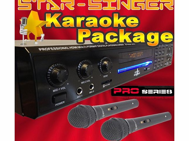 StarSinger  1000 Pro II - Family Karaoke Machine / Player with Microphones amp; Top Songs