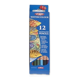 Watercolour Pencils Hexagonal Assorted Ref