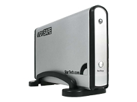 .com 3.5in Silver USB 2.0 One Button IDE External Hard Drive Enclosure - storage enclosure -