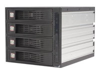 .com 4 Drive 3.5in Trayless Hot Swap SATA Mobile Rack Backplane
