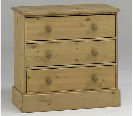 Balmoral Solid Pine 3 Drawer Chest