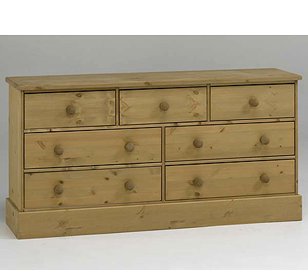 Balmoral Solid Pine 4+3 Drawer Chest