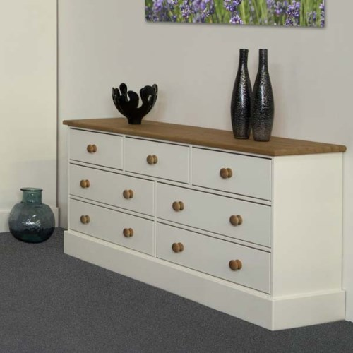Balmoral White 3+4 Drawer Chest