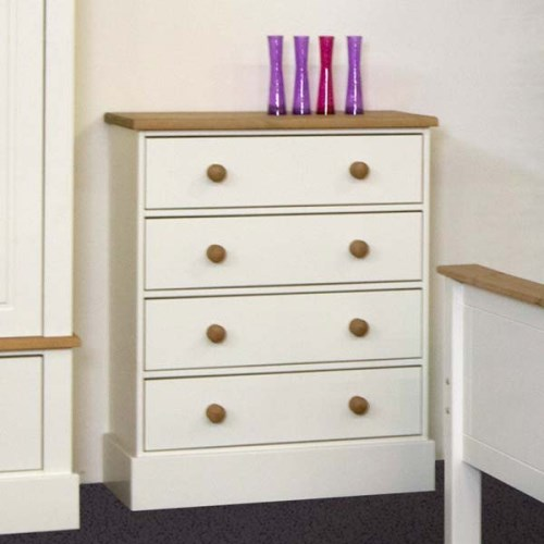Balmoral White 4 Drawer Chest
