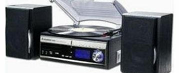 Memphis 3 Speed Turntable/CD/DAB Radio/MP3 Player/Recorder Silver