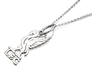 Silver Liverpool Liverbird Pendant And