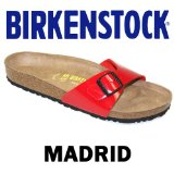 Birkenstock Madrid - Red Patent - Size 7