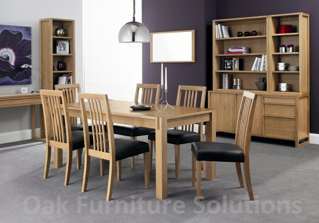 Oak 4-6 Centre Extension Dining Table  4