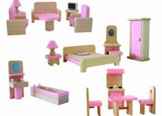 New 20 Piece Dolls House Miniature Furniture Starter Pack 12th Scale