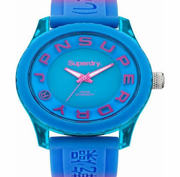 Womens Superdry Tokyo Watch - Blue And Pink