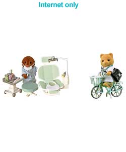 Families Dentist Play Set and Doctor and Bike Set
