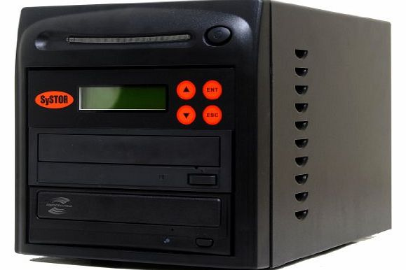 Systor 1-1 LightScribe Multi Burner 24X DVD CD Duplicator with FREE USB Connection (£40 Value)