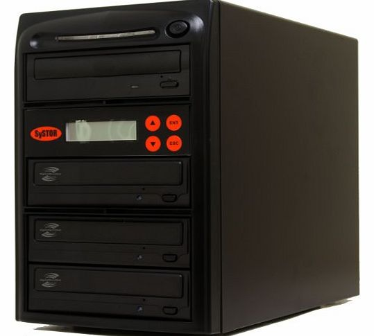 Systor 1-3 LightScribe Multi Burner 24X DVD CD Duplicator with FREE USB Connection (£40 Value)