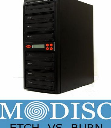 Systor 1-7 M-Disc Multiple Recorder Sata Support Disk 24X Duplicator DVD Copier CD Tower with USB Connection (£40 value)