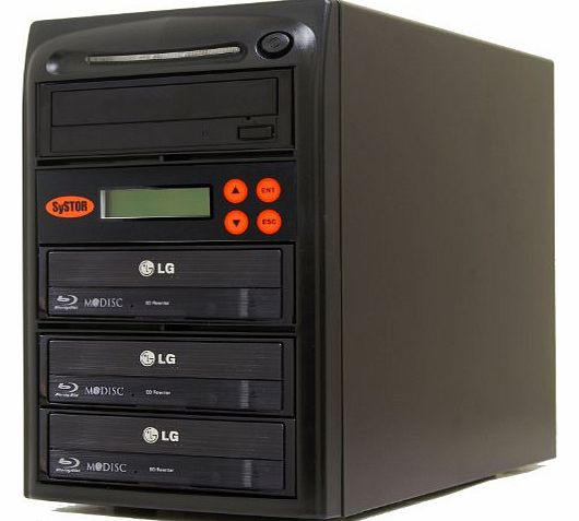 Systor 1 to 3 Blu-ray 14X BD BDXL Mdisc CD DVD Duplicator with FREE USB Connection (£40 Value)