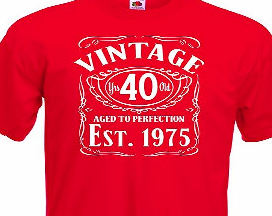 T shirt Printing for less Ltd Vintage Since 1975, 40th Birthday Gift FUNNY MENS COTTON T-SHIRT UPTO SIZE 5XL.