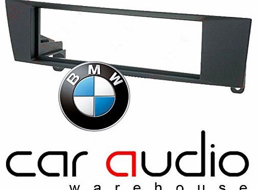 BMW 1 - 3 SERIES SINGLE DIN CAR STEREO RADIO FASCIA FACIA PANEL PLATE ADAPTOR