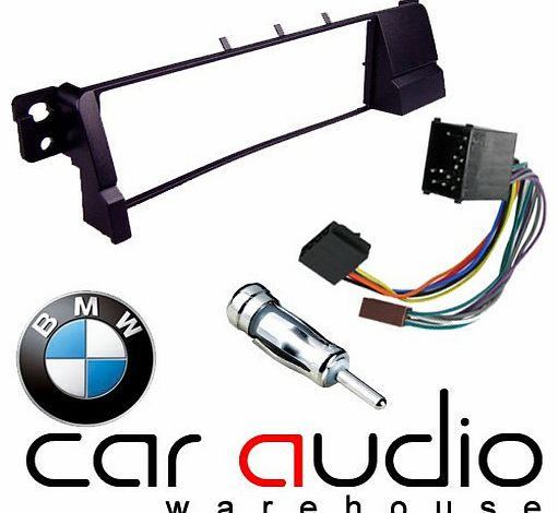 BMW 3 Series E46 1998 - 2002 - Car Stereo Radio Fascia Facia Panel ISO (Round Pins) Aerial Kit