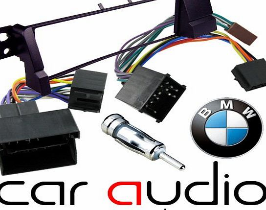 BMW 3 Series E46 1998 - 2013 - Car Stereo Radio Fascia Facia Panel ISO (Flat & Round Pins) Aerial Kit
