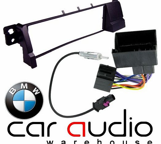 BMW 3 Series E46 2002 - 2013 - Car Stereo Radio Fascia Facia Panel ISO (Flat Pins) Aerial Kit