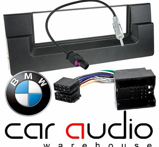 BMW 5 Series E39 2003 - 2013 - Car Stereo Radio Fascia Facia Panel ISO (Flat Pins) Aerial Kit
