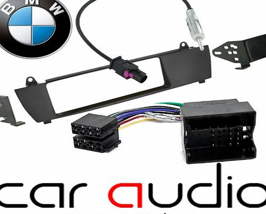 BMW X3 E83 2004 Onwards Vehicles without Navigation - Car Stereo Radio Fascia Facia Panel ISO (Flat Pins) Aerial Kit