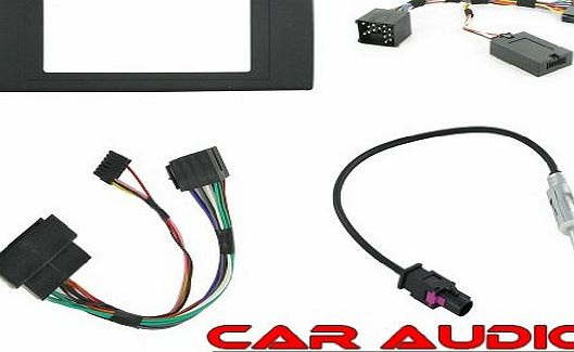 T1-CTKBM05 - Installation Kit BMW X5 (E53) Complete Car Stereo Facia Fitting Kit Includes 2 Din Facia,Steering Wheel Interface and Antenna Adapter. Allowing Installation of a Double DIn Head